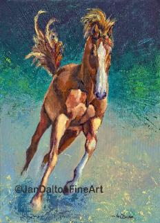 Freedom Horse Painting Mixed Media Jan Dalton Fine Art