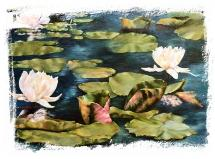 Oil on Canvas The Lily Pond by Jan Dalton